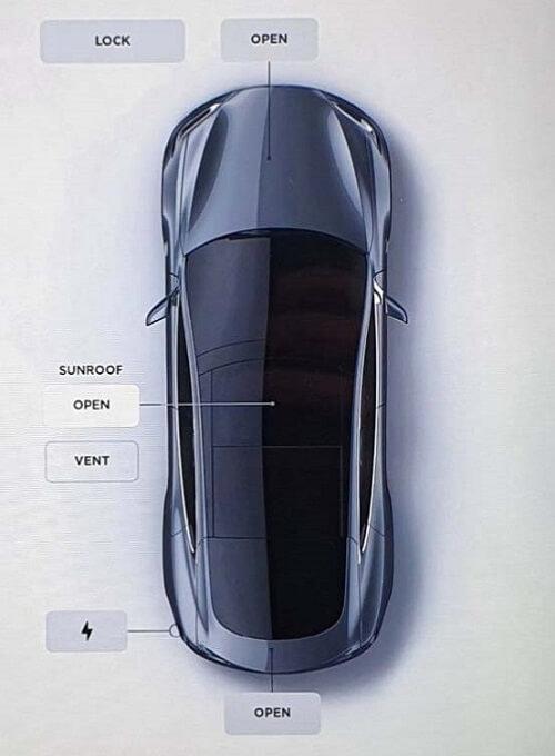 Tesla MS with panoramic sunroof