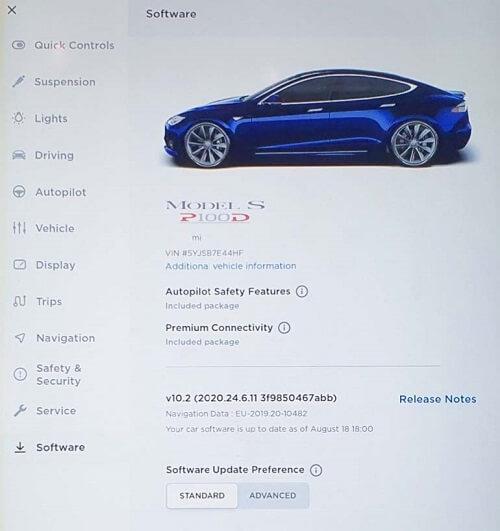 Tesla with No Autopilot software