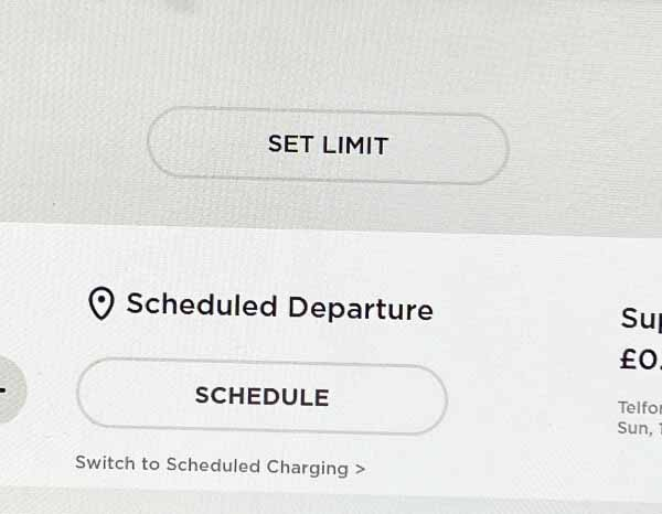 Schedule charge departure time