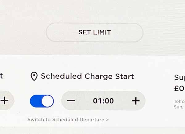 Schedule charge start time